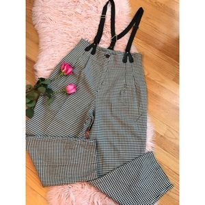 Pants - Vintage plaid high waisted pants